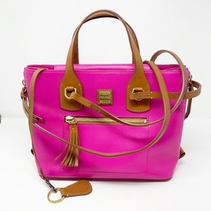 Dooney & Bourke Morgan Leather Fuchsia Tote